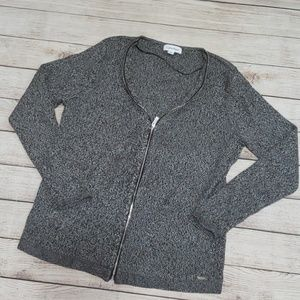 🌵Send an offer🌵 Calvin Klein ribbed knit zip up